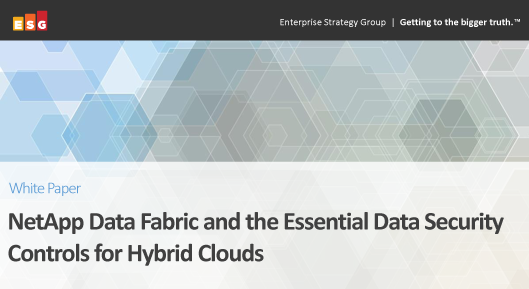 ESG White Paper: NetApp Data Fabric and the Essential Data Security Controls for Hybrid Clouds